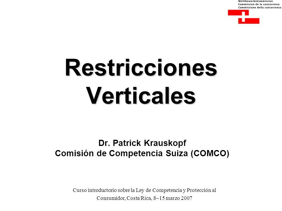 Restricciones Verticales