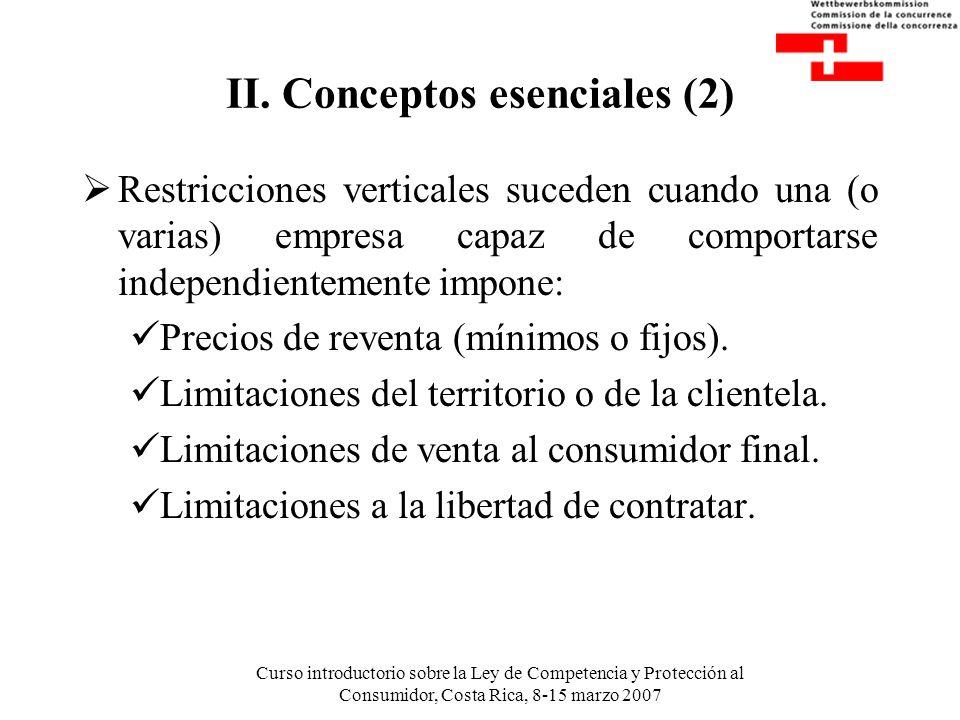 II. Conceptos esenciales (2)