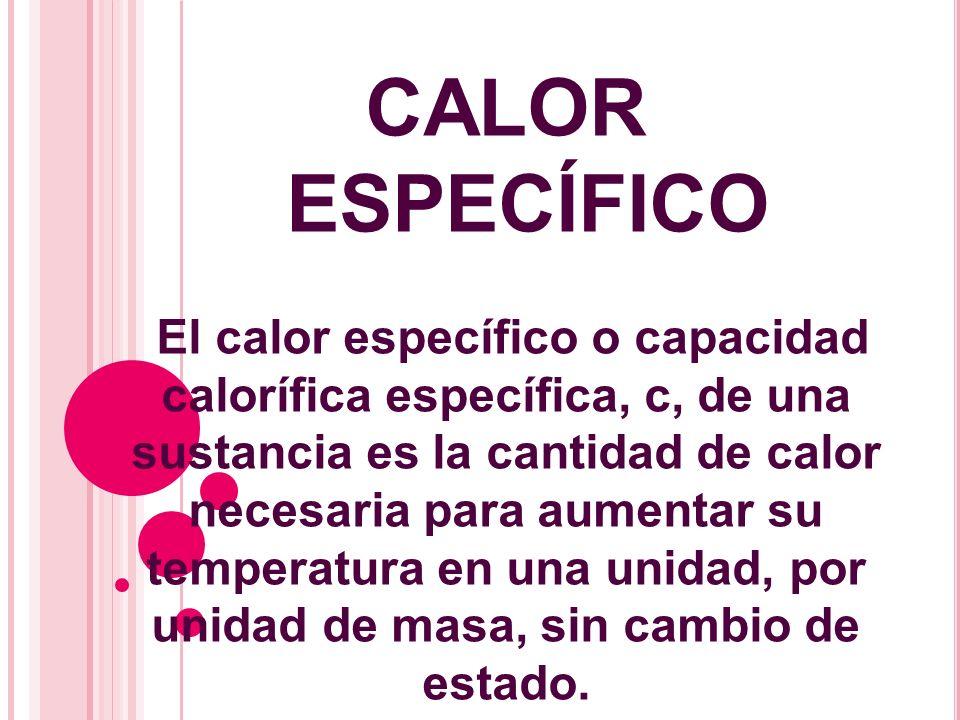 CALOR ESPECÍFICO.