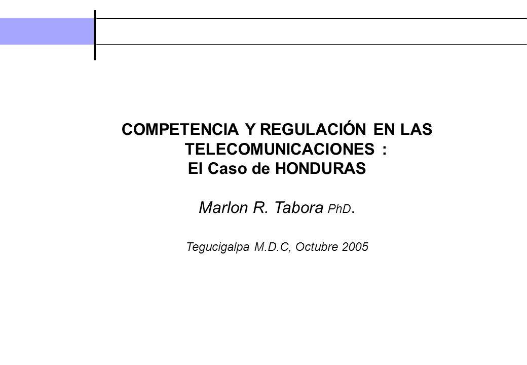 COMPETENCIA Y REGULACIÓN EN LAS TELECOMUNICACIONES :