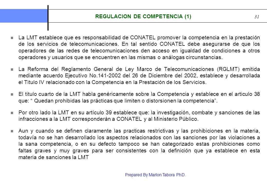 REGULACION DE COMPETENCIA (1)