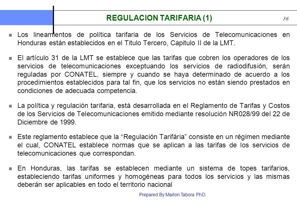 REGULACION TARIFARIA (1)