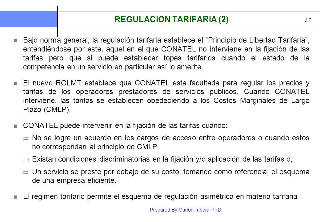 REGULACION TARIFARIA (2)