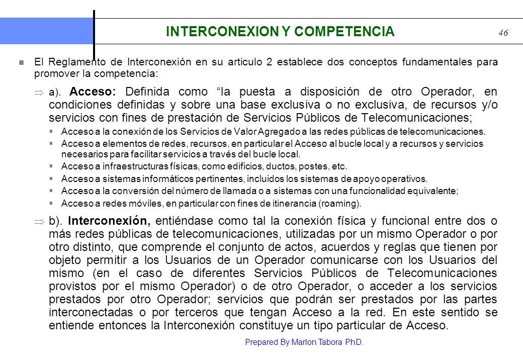 INTERCONEXION Y COMPETENCIA
