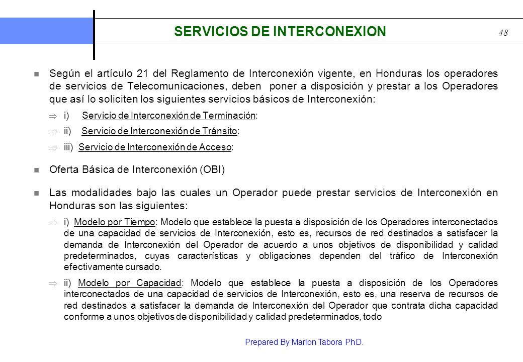 SERVICIOS DE INTERCONEXION