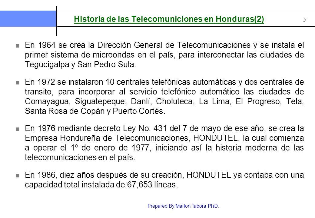 Historia de las Telecomuniciones en Honduras(2)