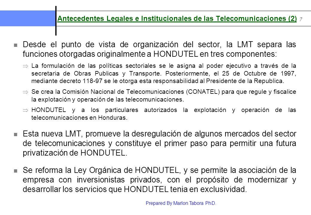 Antecedentes Legales e Institucionales de las Telecomunicaciones (2)