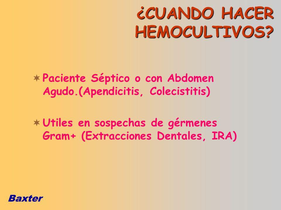 ¿CUANDO HACER HEMOCULTIVOS