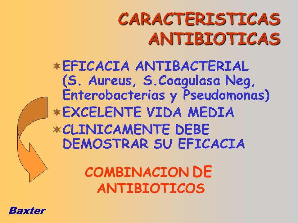 CARACTERISTICAS ANTIBIOTICAS