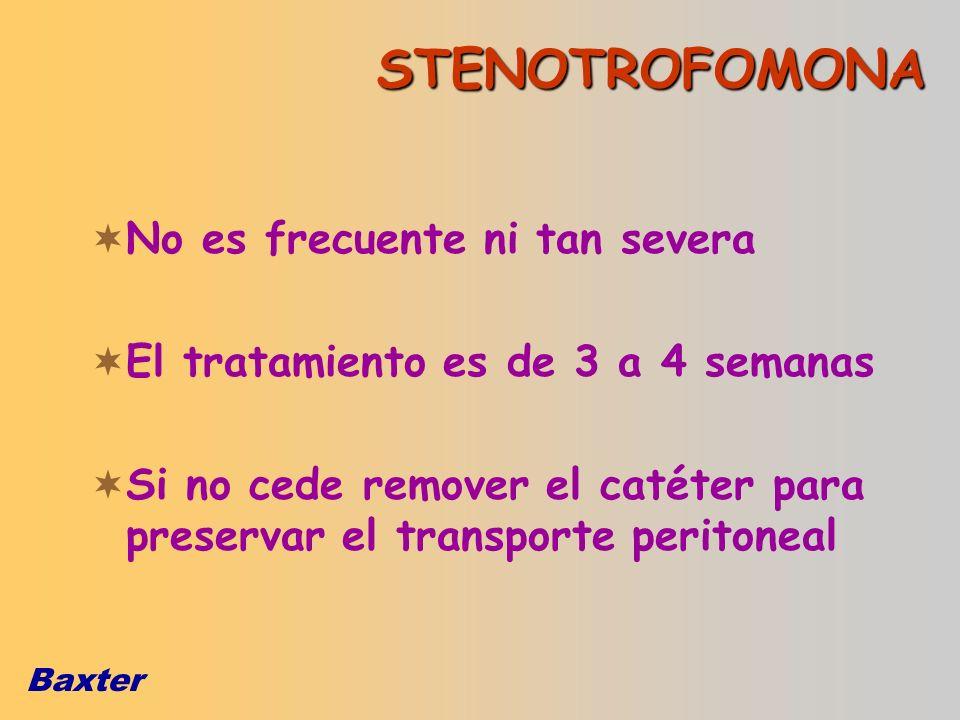 STENOTROFOMONA No es frecuente ni tan severa