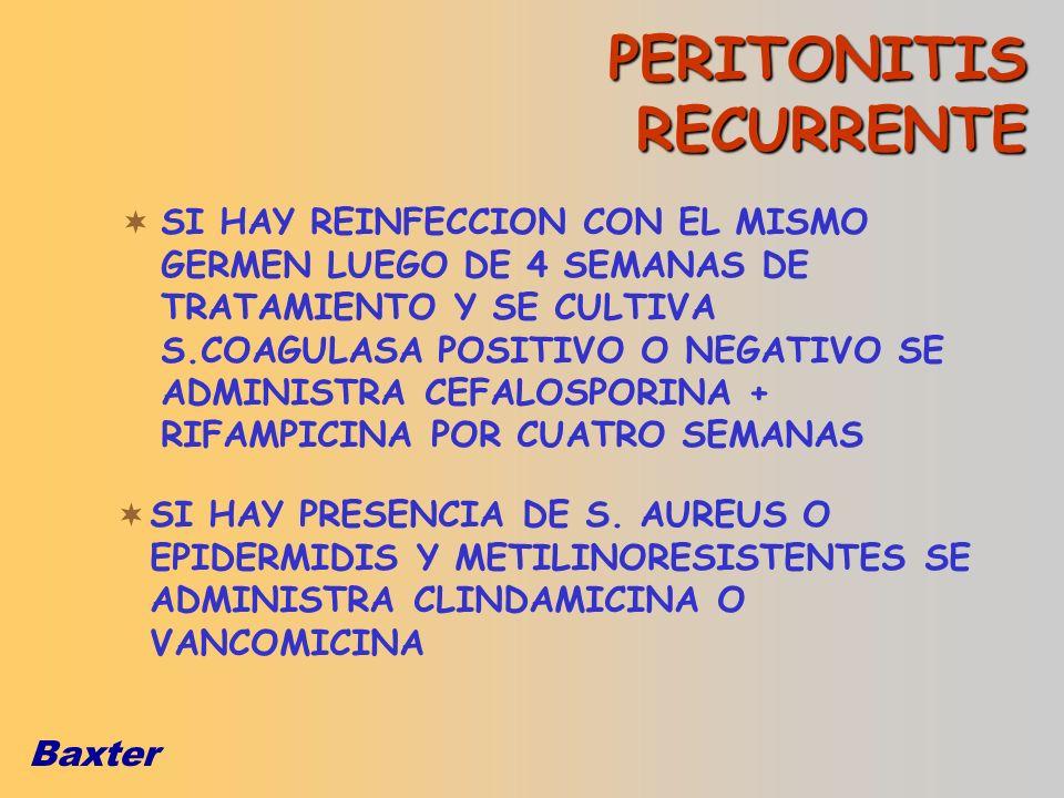 PERITONITIS RECURRENTE