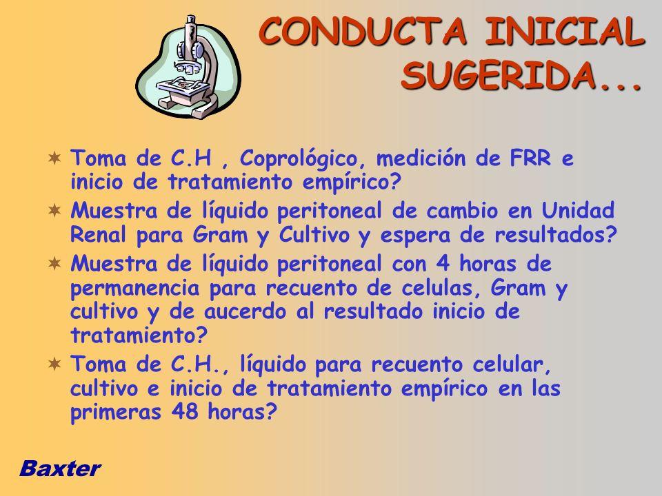 CONDUCTA INICIAL SUGERIDA...