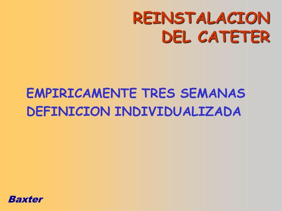 REINSTALACION DEL CATETER