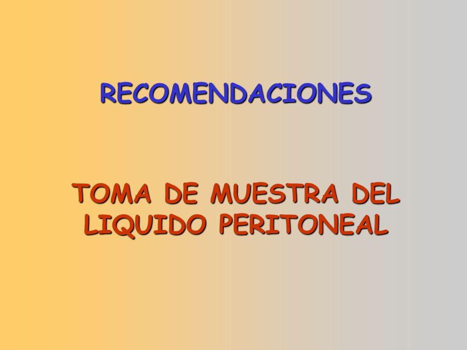 TOMA DE MUESTRA DEL LIQUIDO PERITONEAL