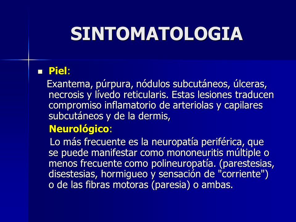 SINTOMATOLOGIA Piel: