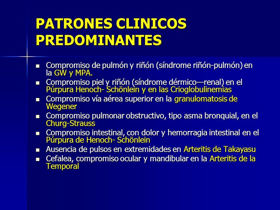 PATRONES CLINICOS PREDOMINANTES