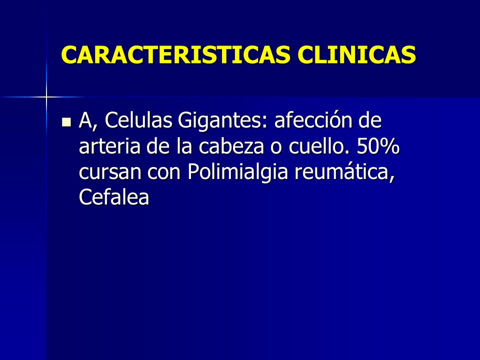 CARACTERISTICAS CLINICAS