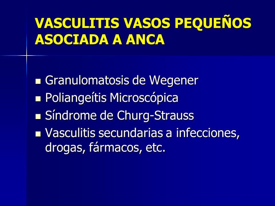 VASCULITIS VASOS PEQUEÑOS ASOCIADA A ANCA