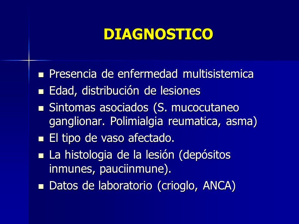 DIAGNOSTICO Presencia de enfermedad multisistemica