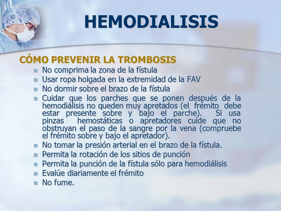 HEMODIALISIS CÓMO PREVENIR LA TROMBOSIS