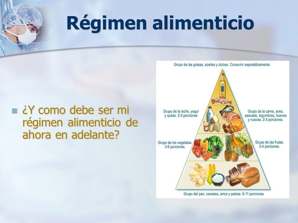 Régimen alimenticio ¿Y como debe ser mi régimen alimenticio de ahora en adelante