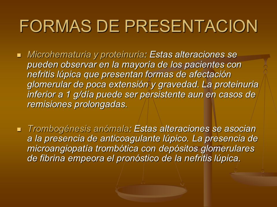 FORMAS DE PRESENTACION