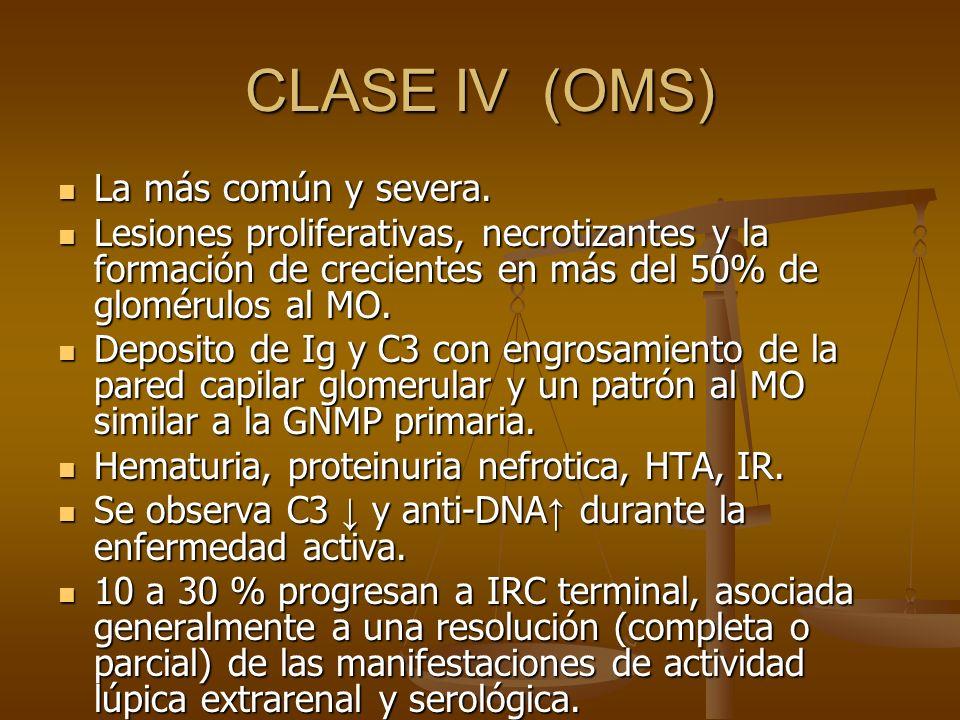 CLASE IV (OMS) La más común y severa.