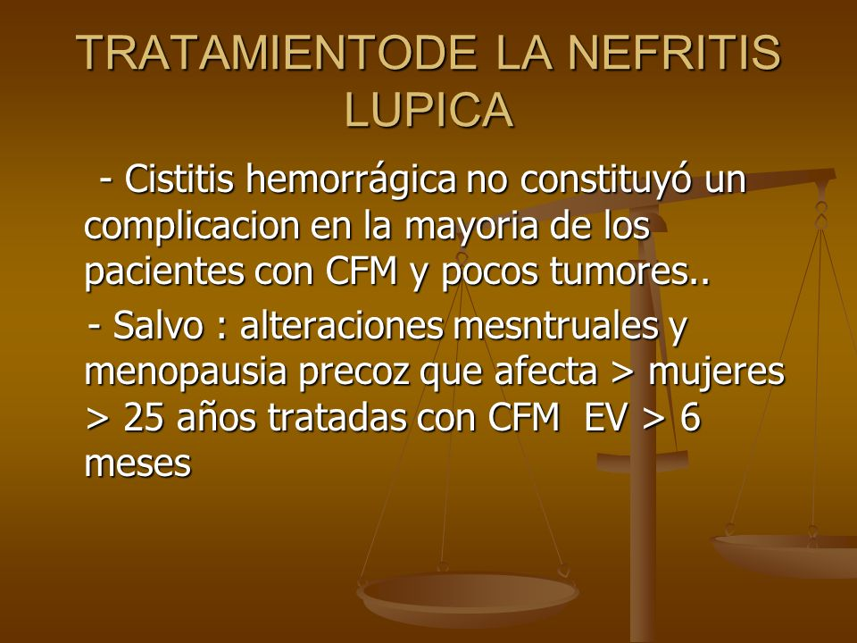 TRATAMIENTODE LA NEFRITIS LUPICA