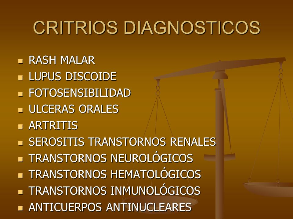 CRITRIOS DIAGNOSTICOS
