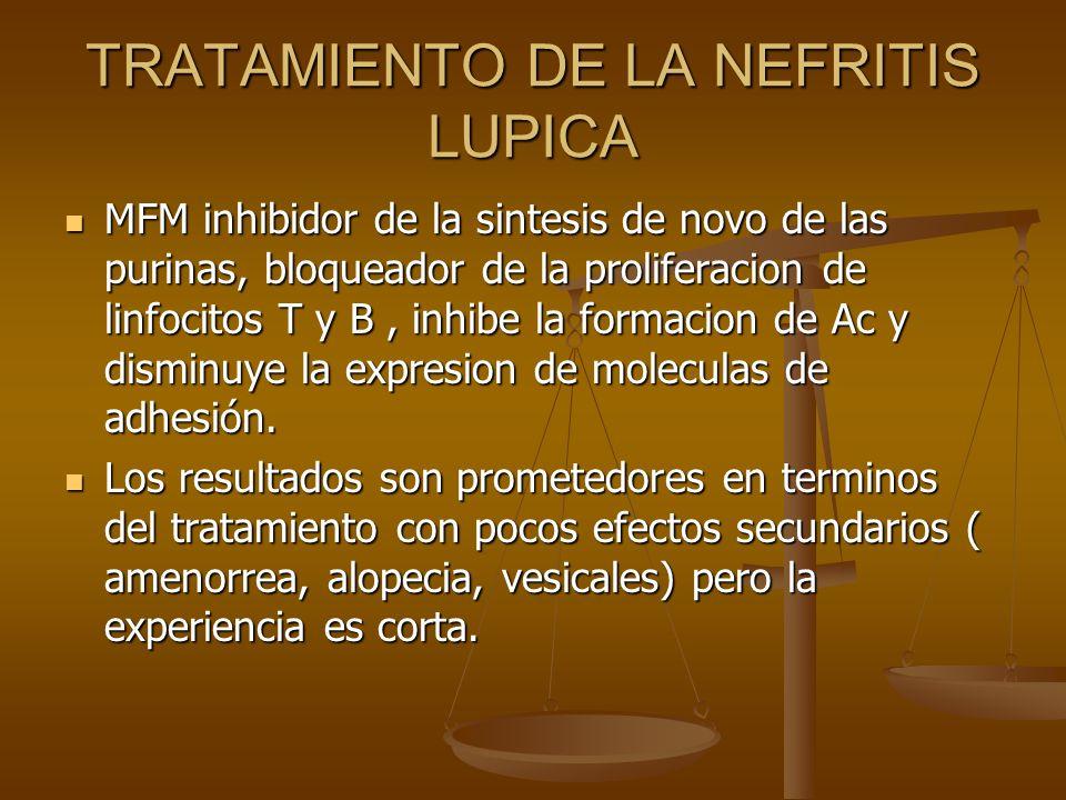 TRATAMIENTO DE LA NEFRITIS LUPICA