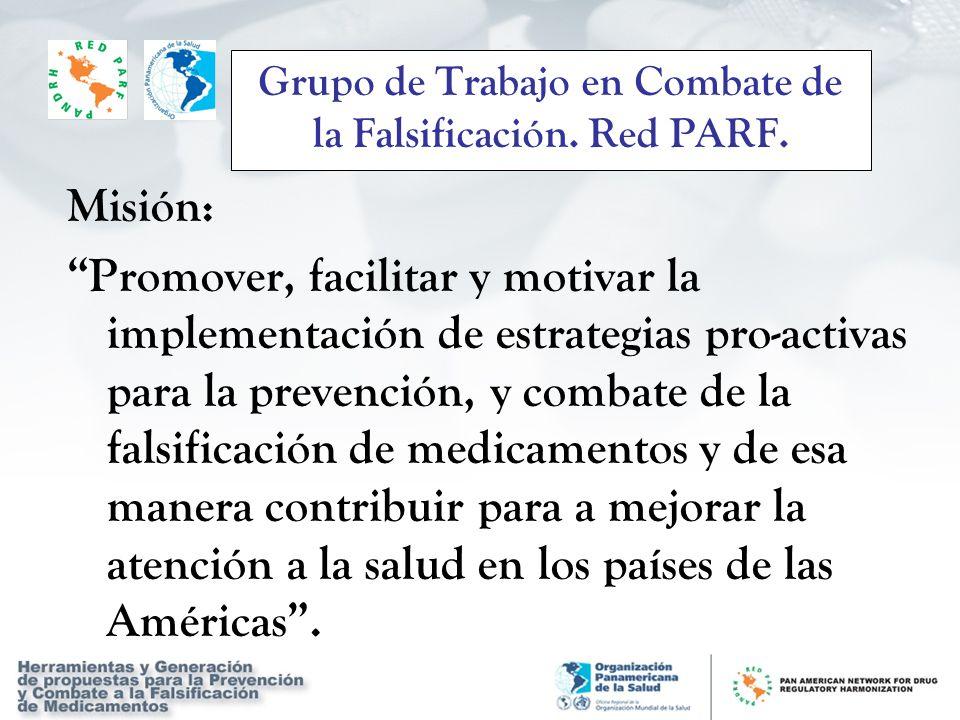 Grupo de Trabajo en Combate de la Falsificación. Red PARF.