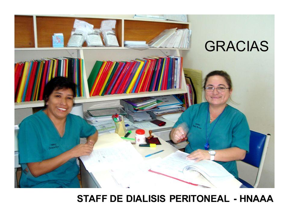 GRACIAS STAFF DE DIALISIS PERITONEAL - HNAAA