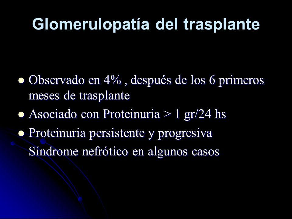Glomerulopatía del trasplante