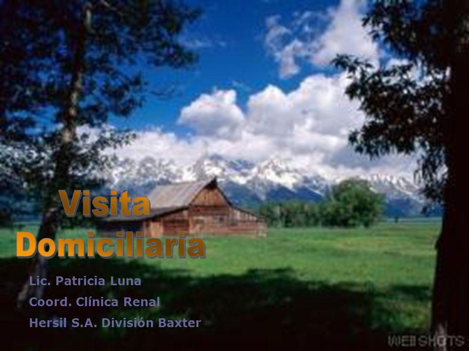 Visita Domiciliaria Lic. Patricia Luna Coord. Clínica Renal