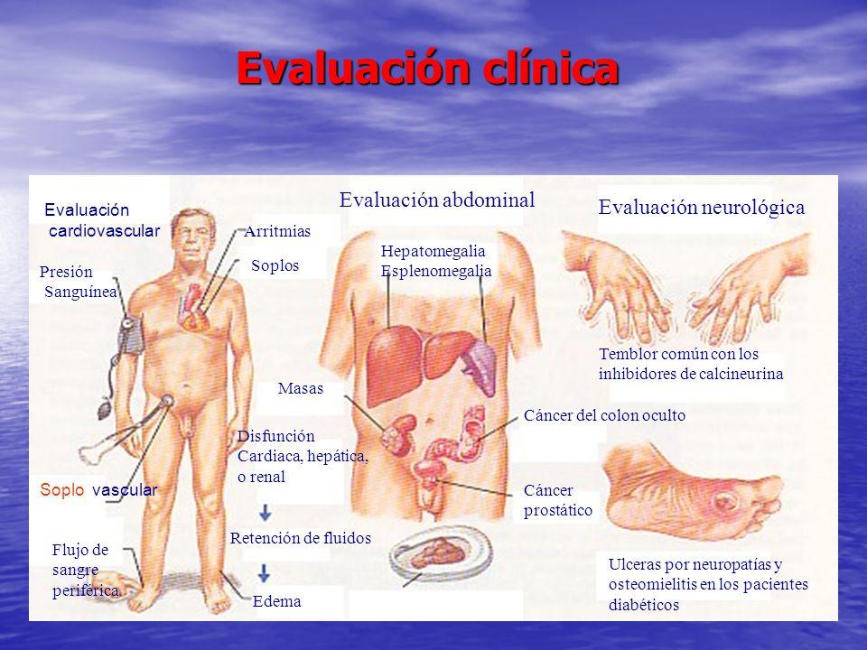 Evaluación clínica Evaluación abdominal Evaluación neurológica