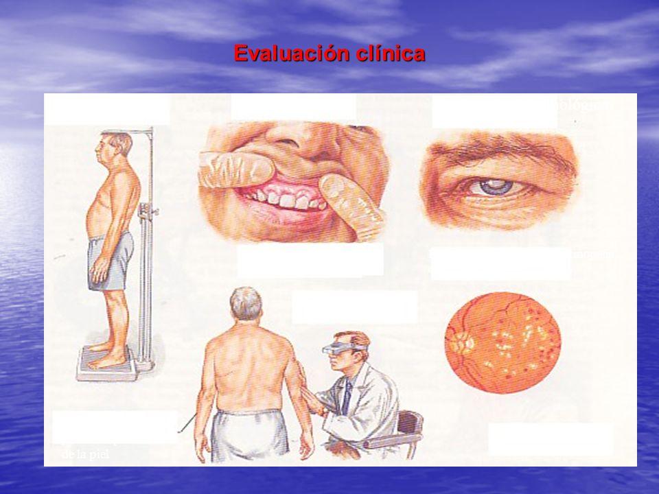 Evaluación clínica Evaluación Oftalmológica Evaluación dental