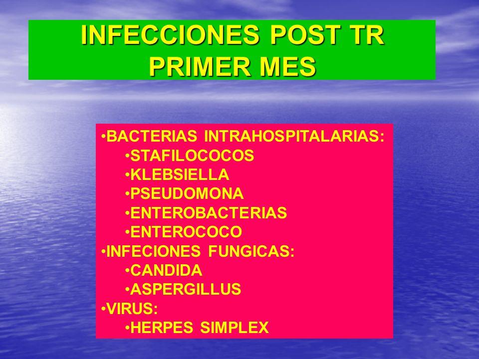 INFECCIONES POST TR PRIMER MES