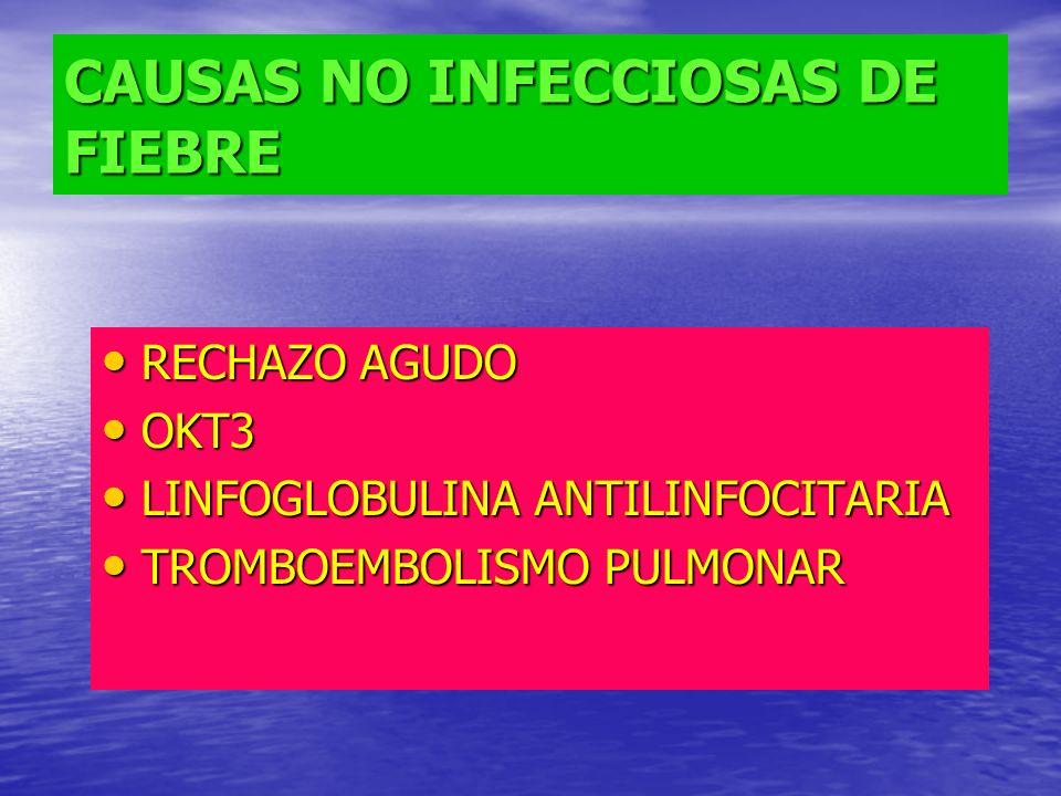 CAUSAS NO INFECCIOSAS DE FIEBRE