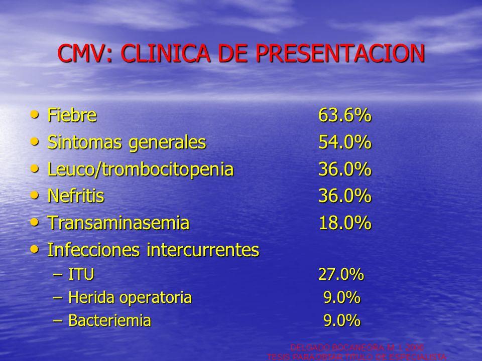 CMV: CLINICA DE PRESENTACION