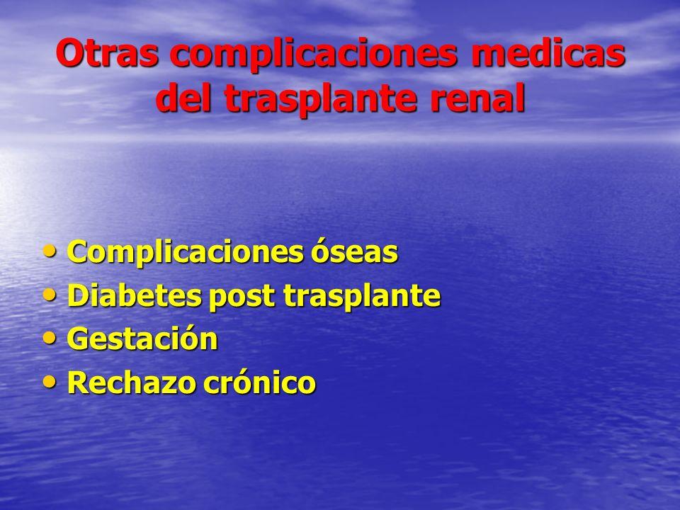 Otras complicaciones medicas del trasplante renal