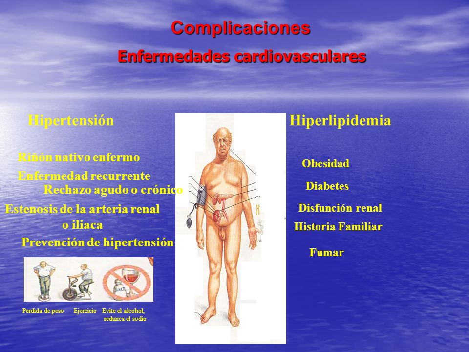 Complicaciones Enfermedades cardiovasculares