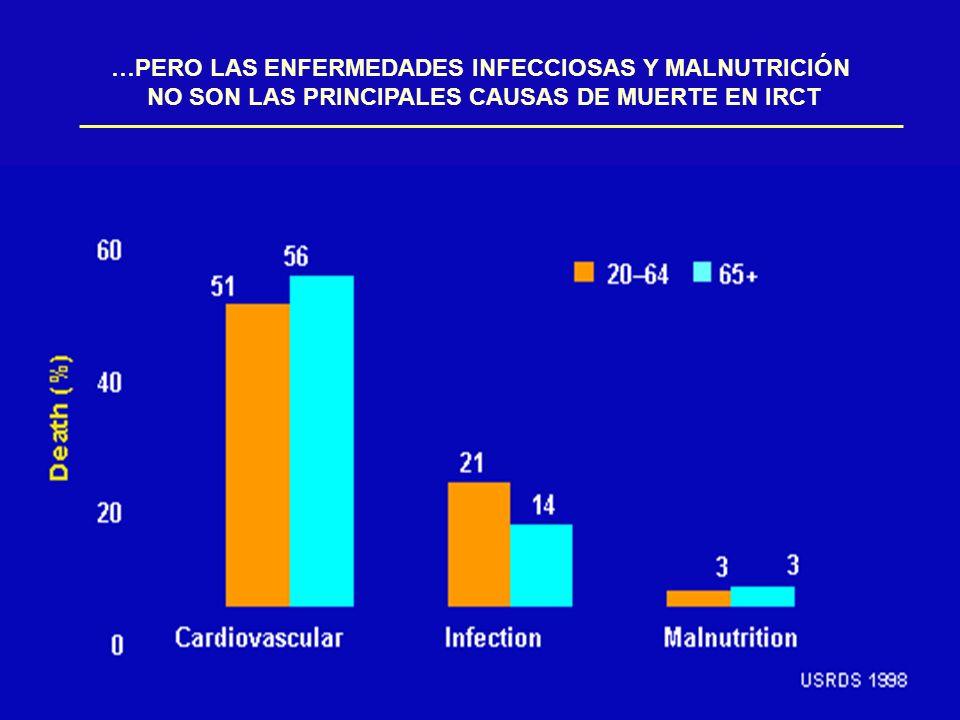 …PERO LAS ENFERMEDADES INFECCIOSAS Y MALNUTRICIÓN