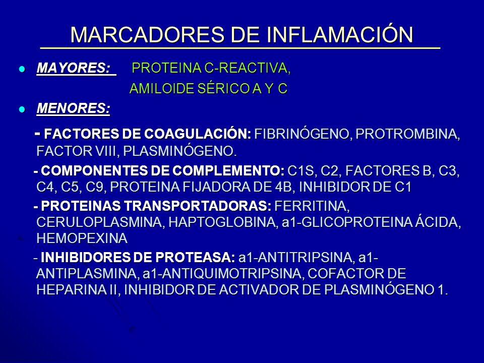MARCADORES DE INFLAMACIÓN