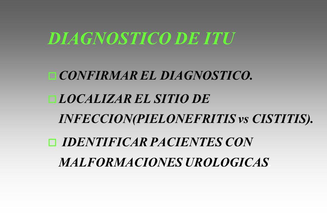 DIAGNOSTICO DE ITU CONFIRMAR EL DIAGNOSTICO.