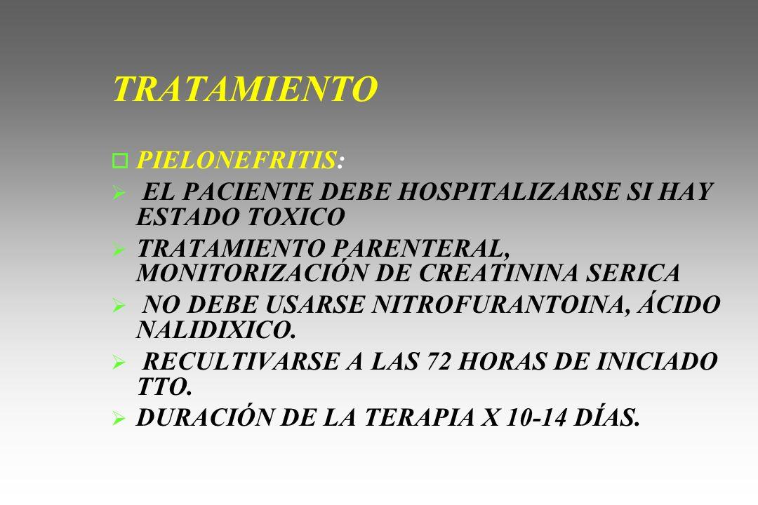 TRATAMIENTO PIELONEFRITIS: