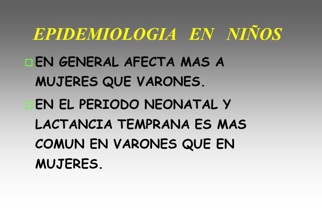 EPIDEMIOLOGIA EN NIÑOS