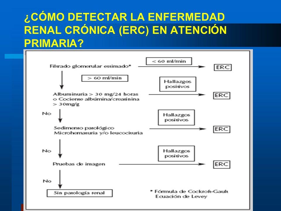 ¿CÓMO DETECTAR LA ENFERMEDAD RENAL CRÓNICA (ERC) EN ATENCIÓN PRIMARIA