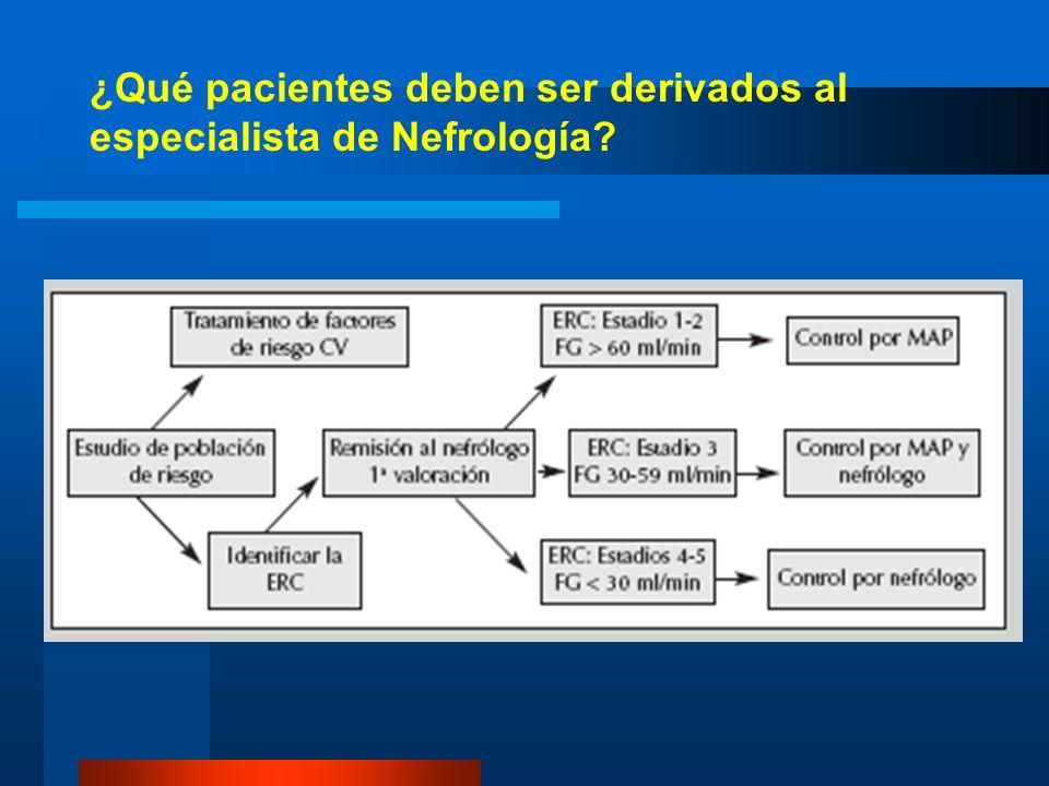 ¿Qué pacientes deben ser derivados al especialista de Nefrología