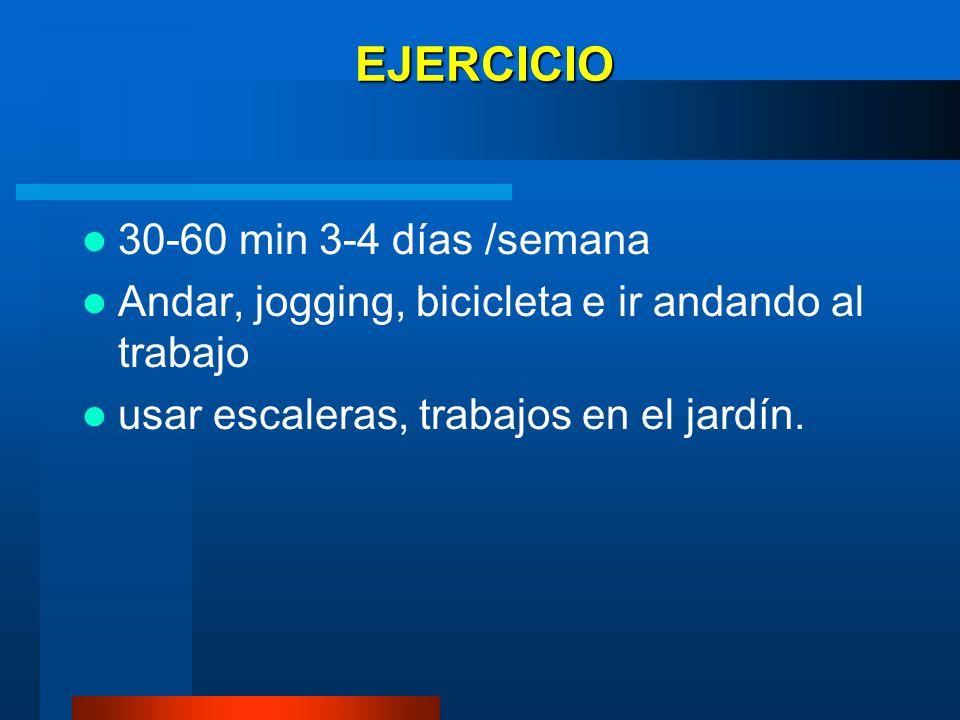 EJERCICIO 30-60 min 3-4 días /semana