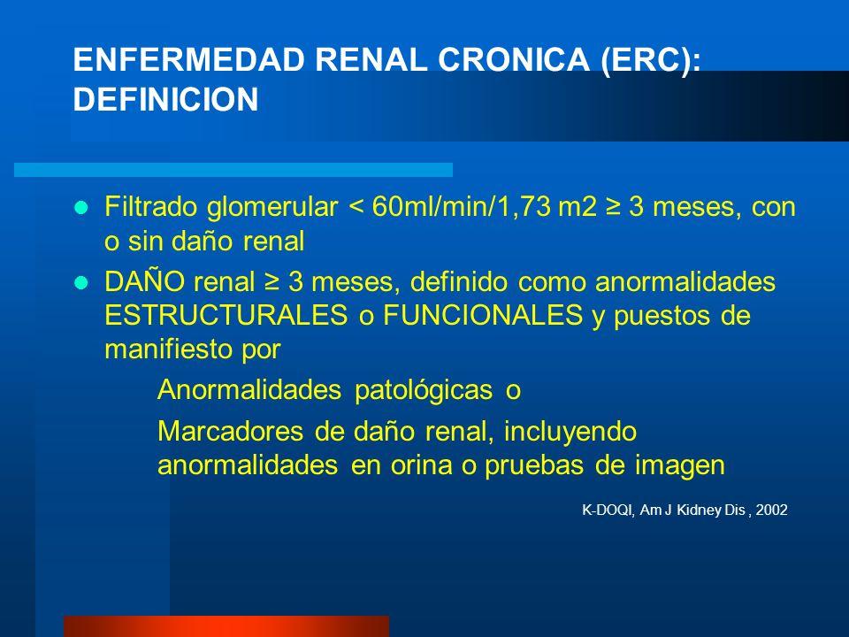 ENFERMEDAD RENAL CRONICA (ERC): DEFINICION
